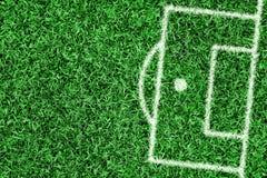 Fragment du terrain de football de la surface de réparation Photographie stock libre de droits