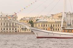 Fragment du vieux flottement de bateau Photo stock