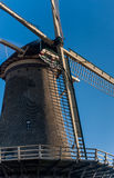 Fragment of Dutch old windmill in Netherlands Royalty Free Stock Photo