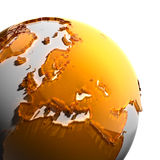 A fragment of the Earth Royalty Free Stock Image