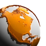 A fragment of the Earth Stock Image