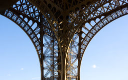 Fragment of Eiffel Tower Royalty Free Stock Image