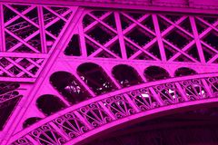 Fragment Eiffel Tower Paris Royalty Free Stock Images