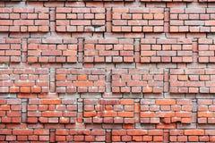 Fragment einer alten Backsteinmauer eines Wohnung haus- Hintergrundes Stockfotos
