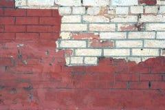 Fragment einer Backsteinmauer Stockfoto
