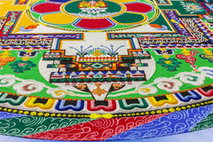 Fragment einer buddhistischen Mandala Stockbilder