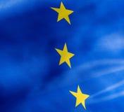 Fragment einer Flagge der Europäischer Gemeinschaft im Sonnenlicht Lizenzfreie Stockfotografie