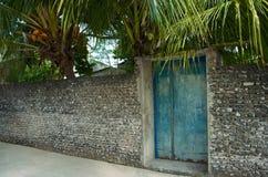 Fragment einer korallenroten Wand lizenzfreie abbildung