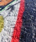 Fragment einer Wand befleckt mit Farbe Hintergrund stockbilder