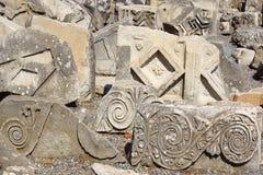 Fragment eines Flachreliefs in der alten Stadt Ephesus Lizenzfreie Stockbilder