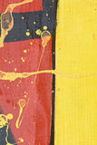 Fragment eines gemalten Zauns Stockbild