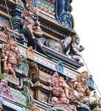 Fragment eines hindischen Tempels in Victoria, Seychellen stockfotos