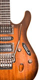 Fragment of electric guitar Stock Photography