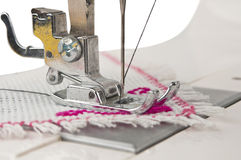Fragment of the electric sewing machine Royalty Free Stock Photography