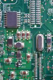 Fragment of electronic board Stock Photos