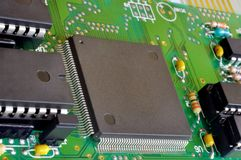Fragment of electronic board Stock Image