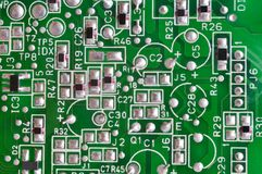 Fragment of electronic board Stock Images