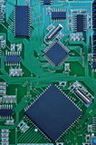 Fragment of electronic board Royalty Free Stock Images