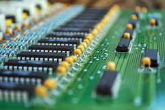 Fragment of an electronic unit Stock Photos