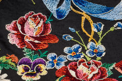 Fragment of embroidery (the rear face) Stock Image