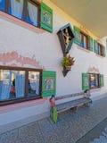 Fragment of the enchanting Upper Bavarian-styled house Stock Image