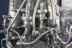 Fragment of the engine rocket, detailed exposure Royalty Free Stock Images