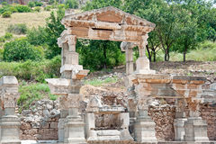 The fragment of Ephesus architecture, Turkey Royalty Free Stock Photography