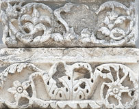 The fragment of Ephesus architecture, Turkey Royalty Free Stock Photos