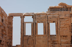 Fragment of the Erechtheum Stock Photos