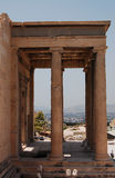 Fragment of the Erechtheum Royalty Free Stock Photo