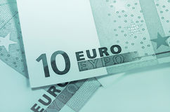 Fragment of euro money Royalty Free Stock Images