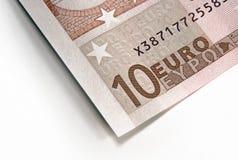 Fragment of euro money Stock Photos