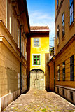 Fragment of european street Royalty Free Stock Images