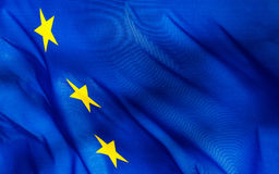 Fragment of a  European Union flag Stock Photography