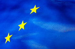 Fragment of European Union flag Stock Image
