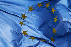 Fragment of a  European Union flag in sunlight Royalty Free Stock Images