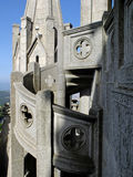 The fragment of Expiatory Church of the Sacred Heart of Jesus in Barcelona Royalty Free Stock Photo
