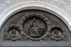 Fragment of external furniture of a Christian temple. Of the Christ of the Savior in Moscow Stock Image