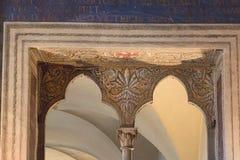 Fragment för ingångs` s i Sala della Cancelleria i Palazzo Vecchio, Florence, Tuscany, Italien royaltyfri fotografi