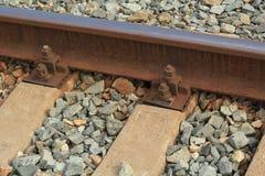 Fragment för järnvägspår Arkivbild