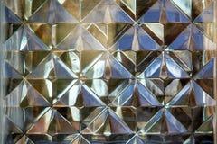 Fragment för vägg för Glass tegelsten som en abstrakt texturbakgrund Arkivbilder