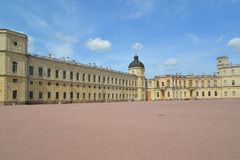 Fragment of a facade of the Big Gatchina palace. Russia Royalty Free Stock Images