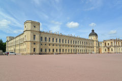 Fragment of a facade of the Big Gatchina palace. Russia Stock Photo
