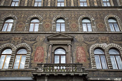 Fragment of a facade of a building Royalty Free Stock Photography