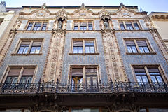 Fragment of a facade of a building in Budapest. Hungary Stock Photo