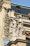 Fragment of facade of the Chapelle de la Sorbonne in Paris Royalty Free Stock Images
