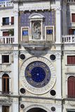 Fragment of the facade of the Clock Tower, Venice stock image