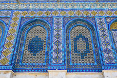 Fragment of facade Dome of the Rock at Temple Mount, Old City of Jerusalem Stock Photo