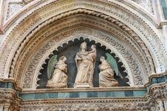 Fragment of facade Duomo Santa Maria del Fiore, Florence Stock Image