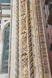 Fragment of facade Duomo Santa Maria del Fiore, Florence, Italy Royalty Free Stock Photography